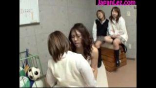 Big Breasted Teacher Licking SchoolGirls Pussy