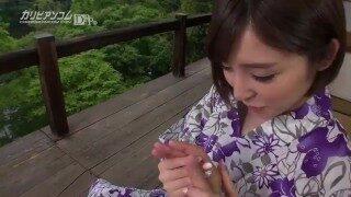 与妻子中出 | 温泉旅行 | 日本大胸 | 超刺激温泉性爱 | 若妻中出し温泉旅行
