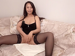 Dumb Chubby Chinese Cunt – Masturbating On Couch