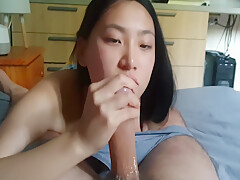 Spicygum – Asian Chinese Giving Quick Blowjob ⁄ Gfe June Liu